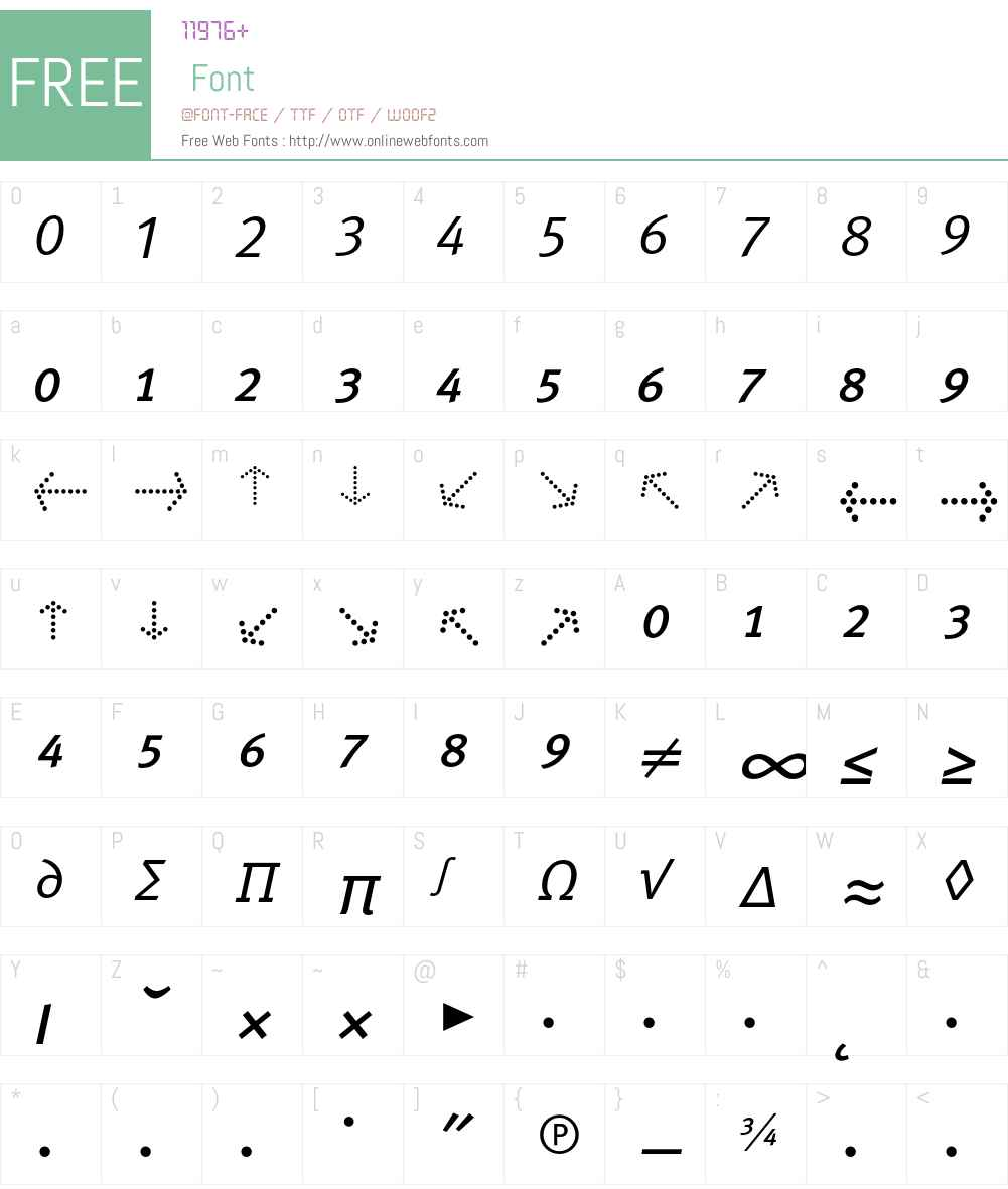 MetaNormalCyr-ItalicExpert Font Screenshots