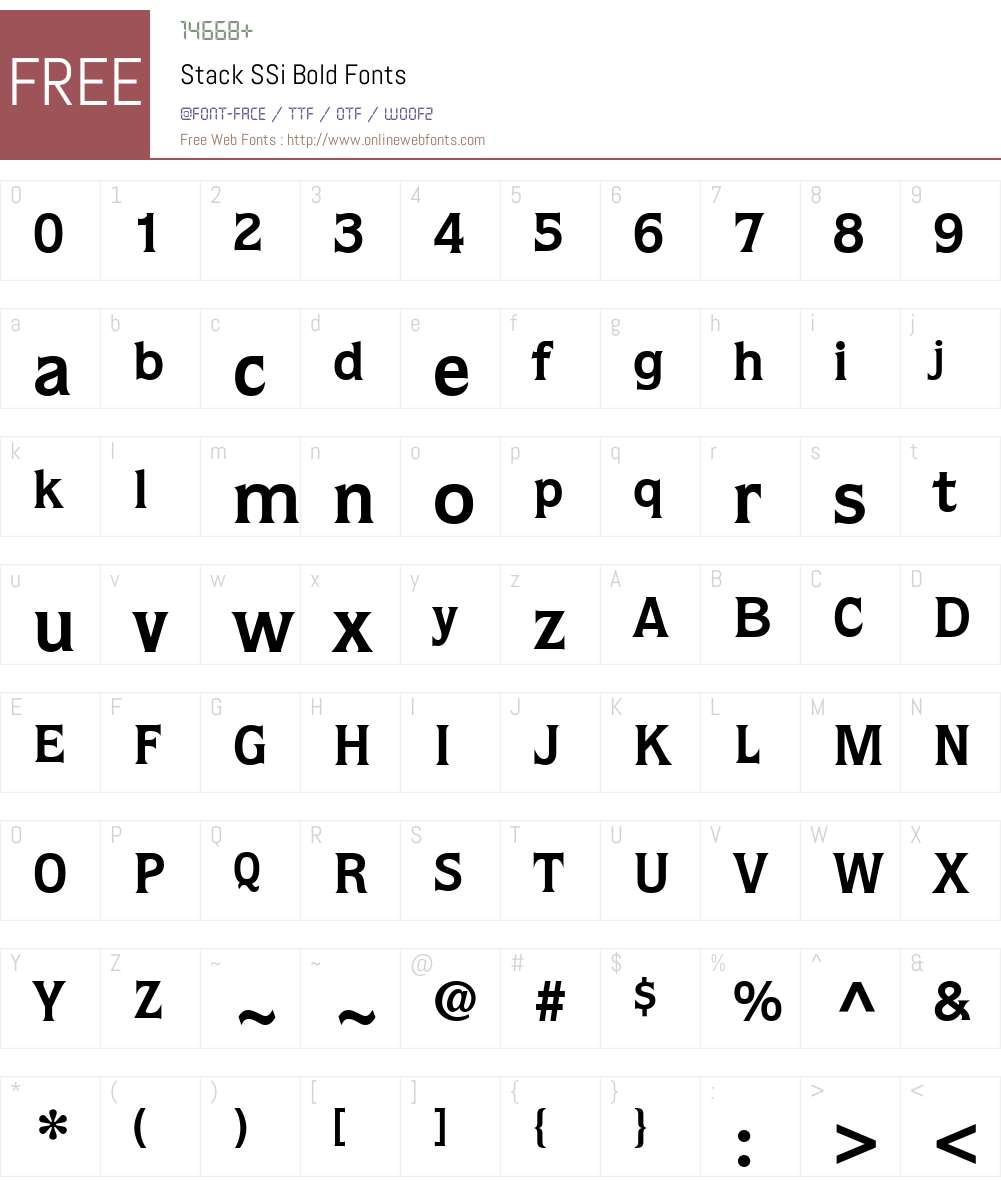 Stack SSi Font Screenshots