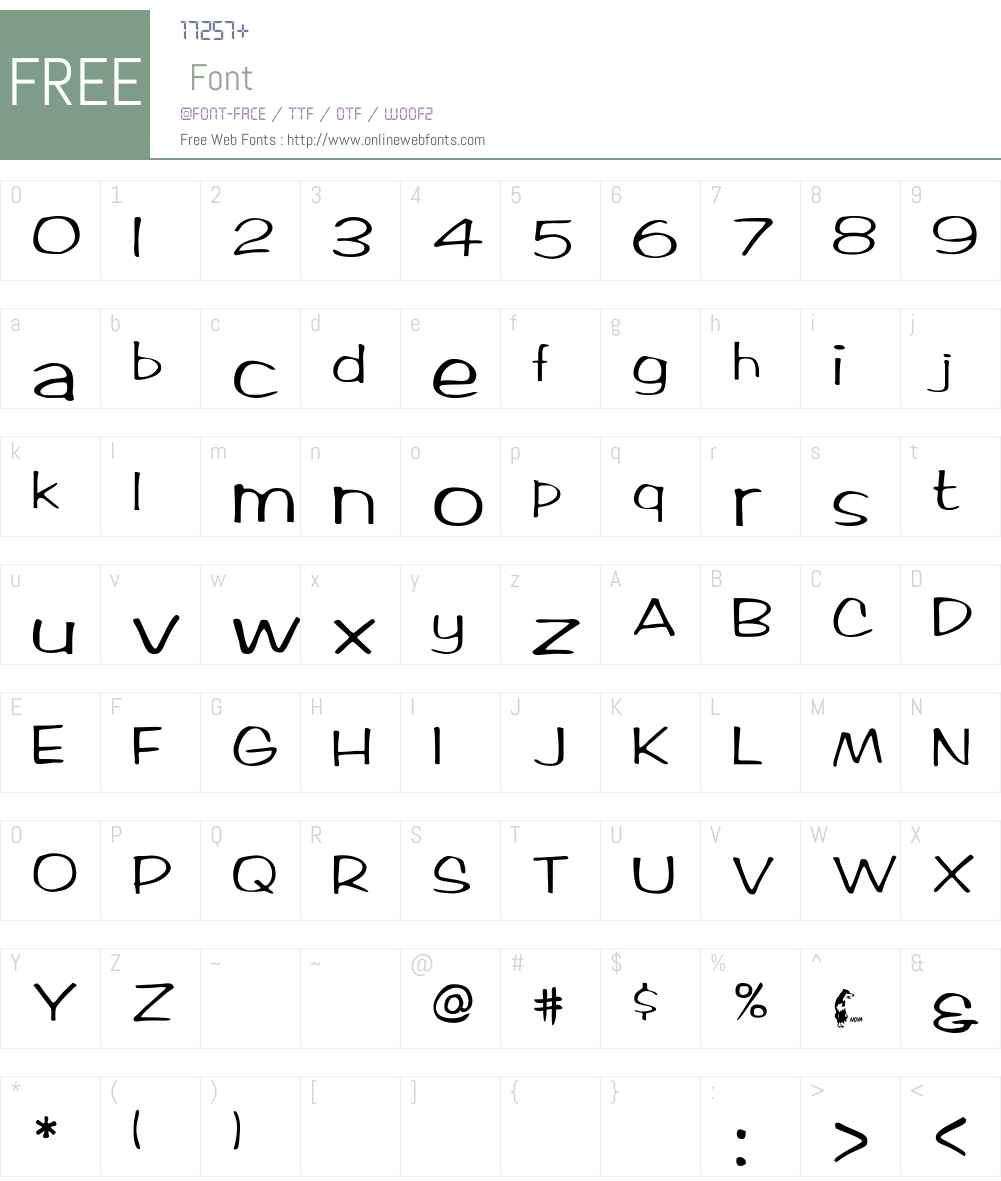 Ticard Font Screenshots