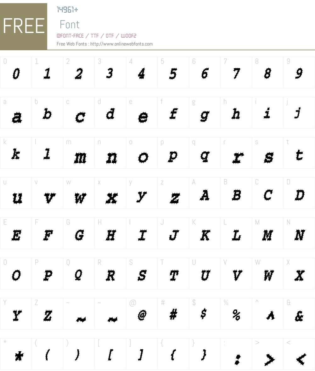 ChiselSpikedCondensed Font Screenshots