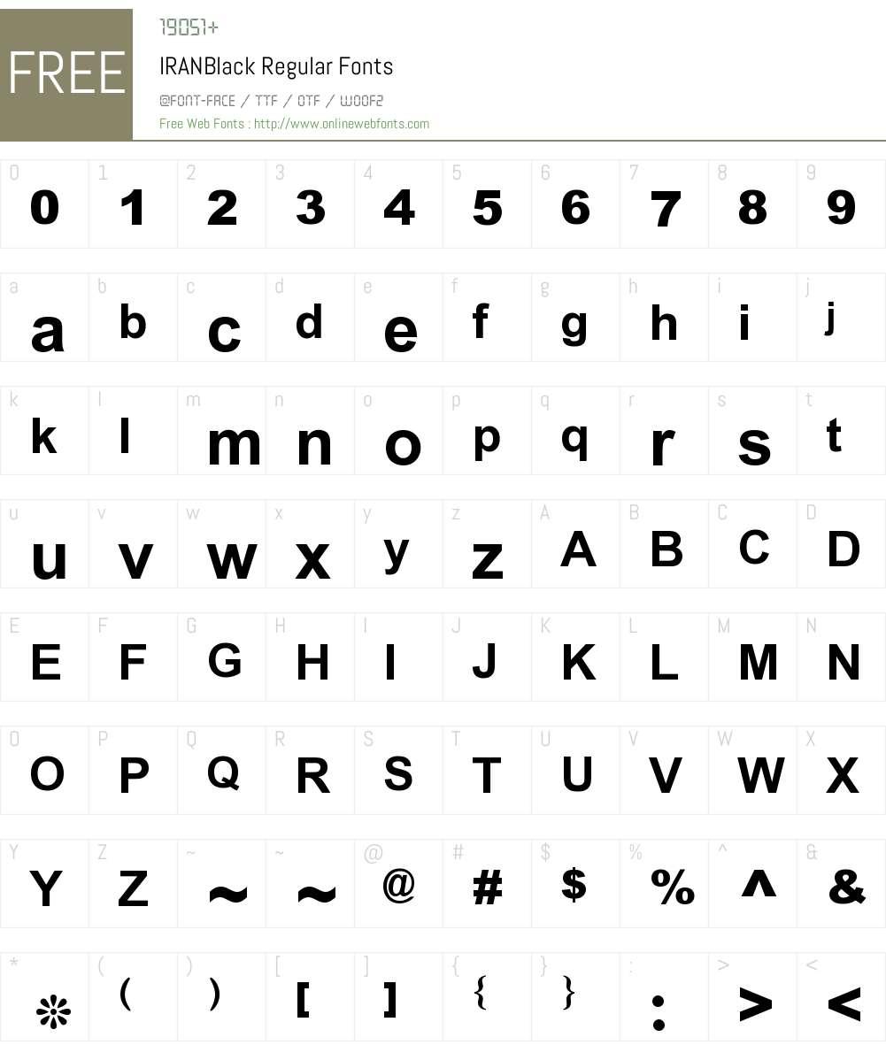 IRANBlack Font Screenshots