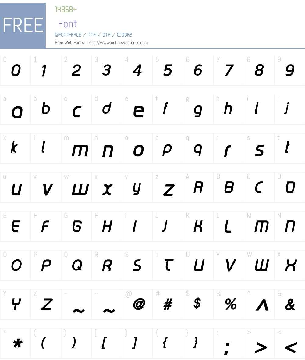 RiptCure Oblique Font Screenshots