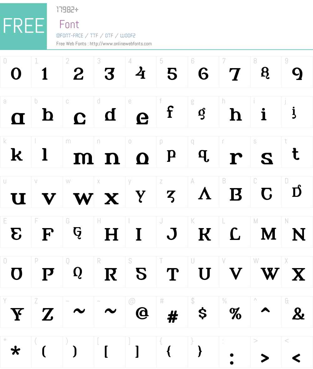 AlembicBeta Font Screenshots