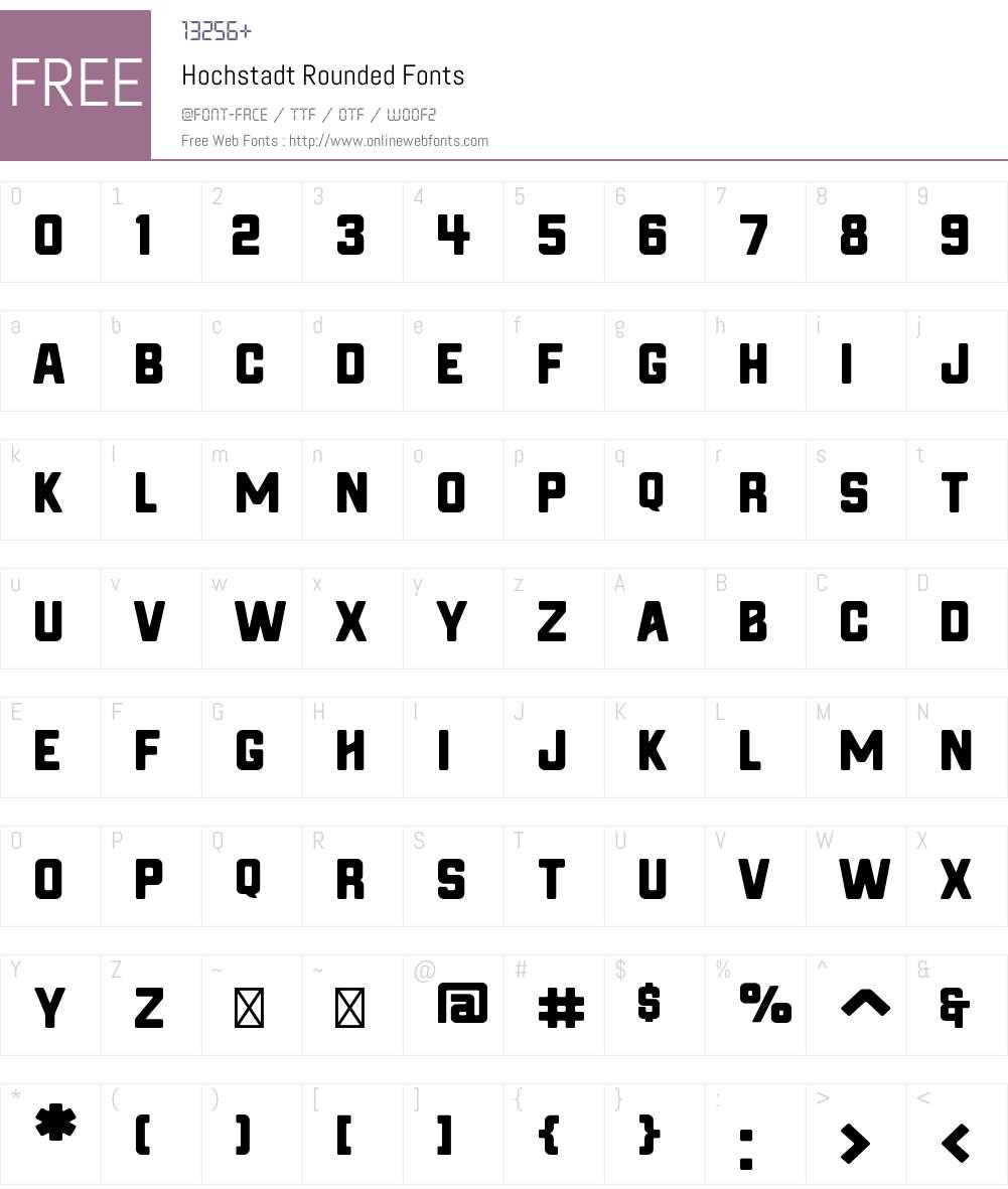 Hochstadt Rounded Font Screenshots
