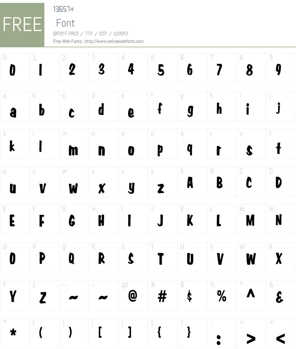 Big Nib-Condensed Font Screenshots