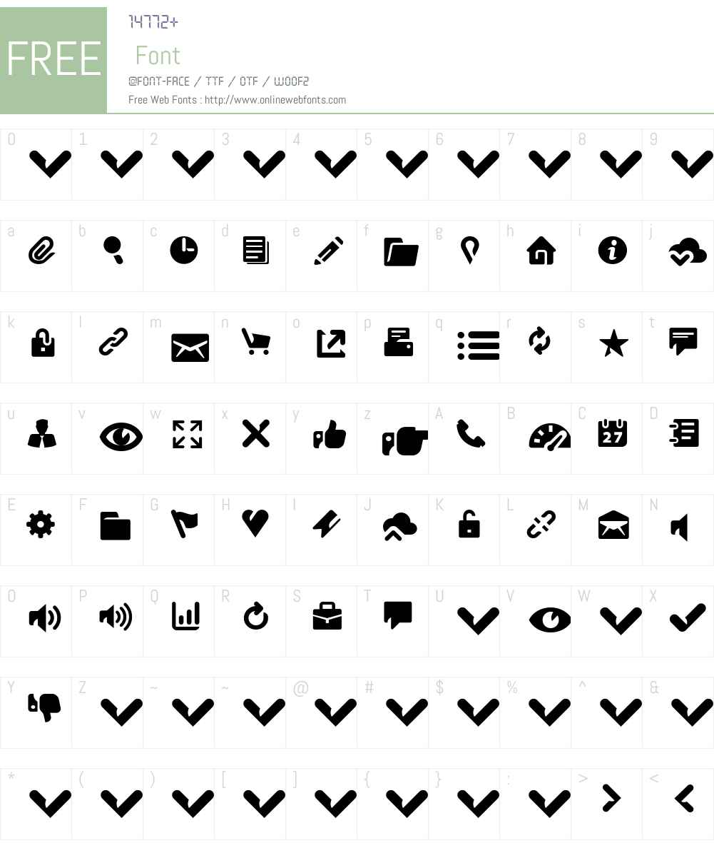 Breezi Icon Set Font Screenshots
