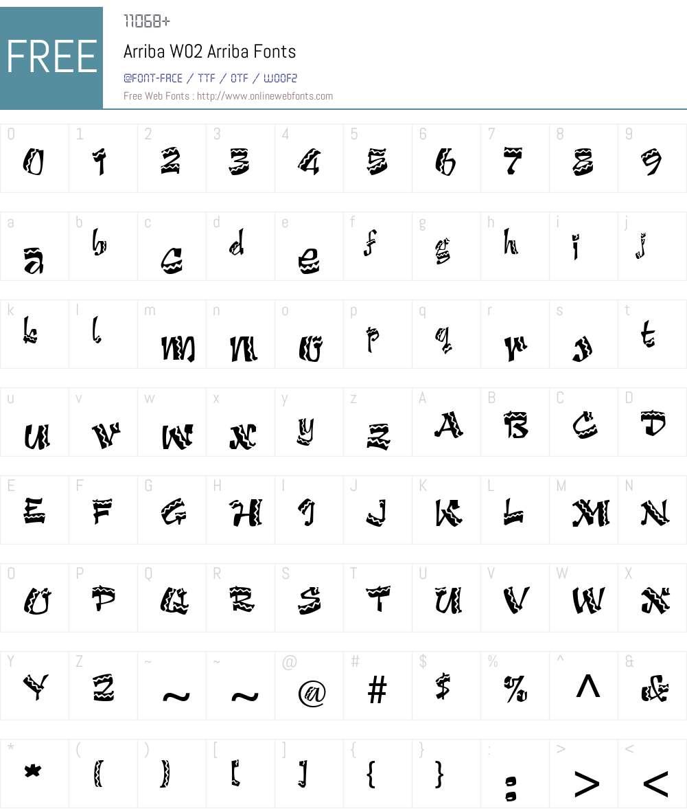 Arriba Font Screenshots
