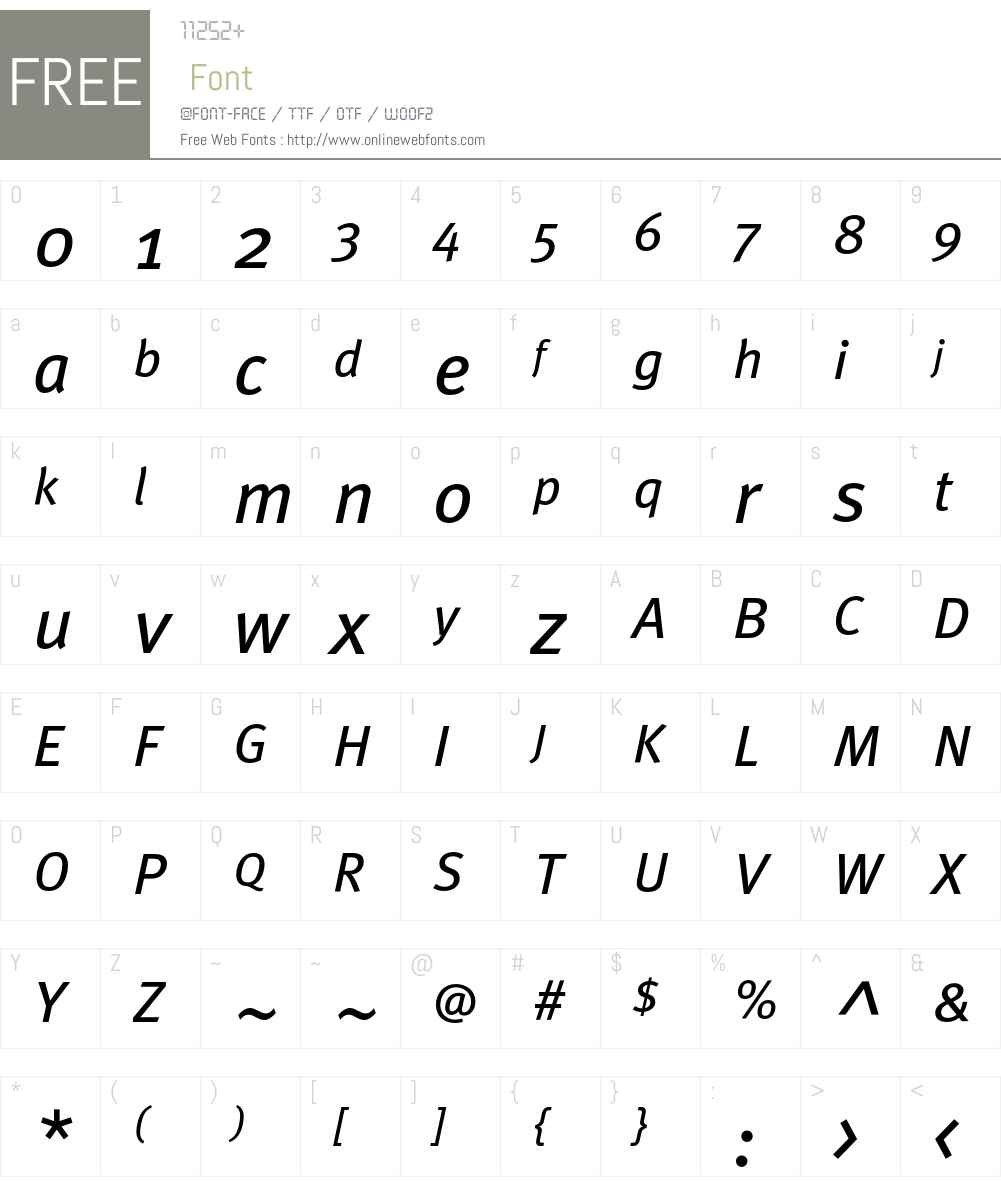 MetaBookTurk Font Screenshots