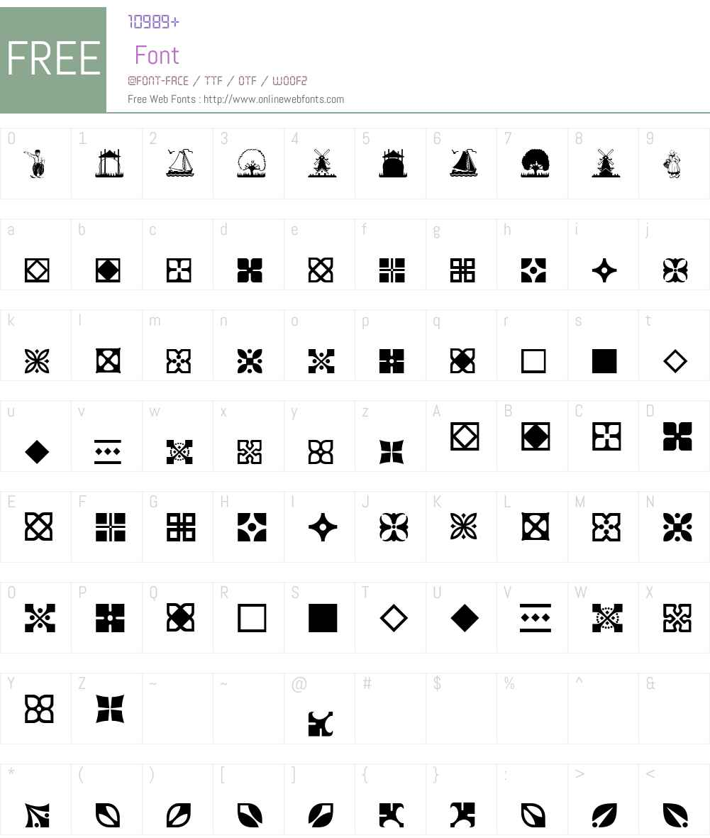 DutchMediaevalW00-Ornaments Font Screenshots