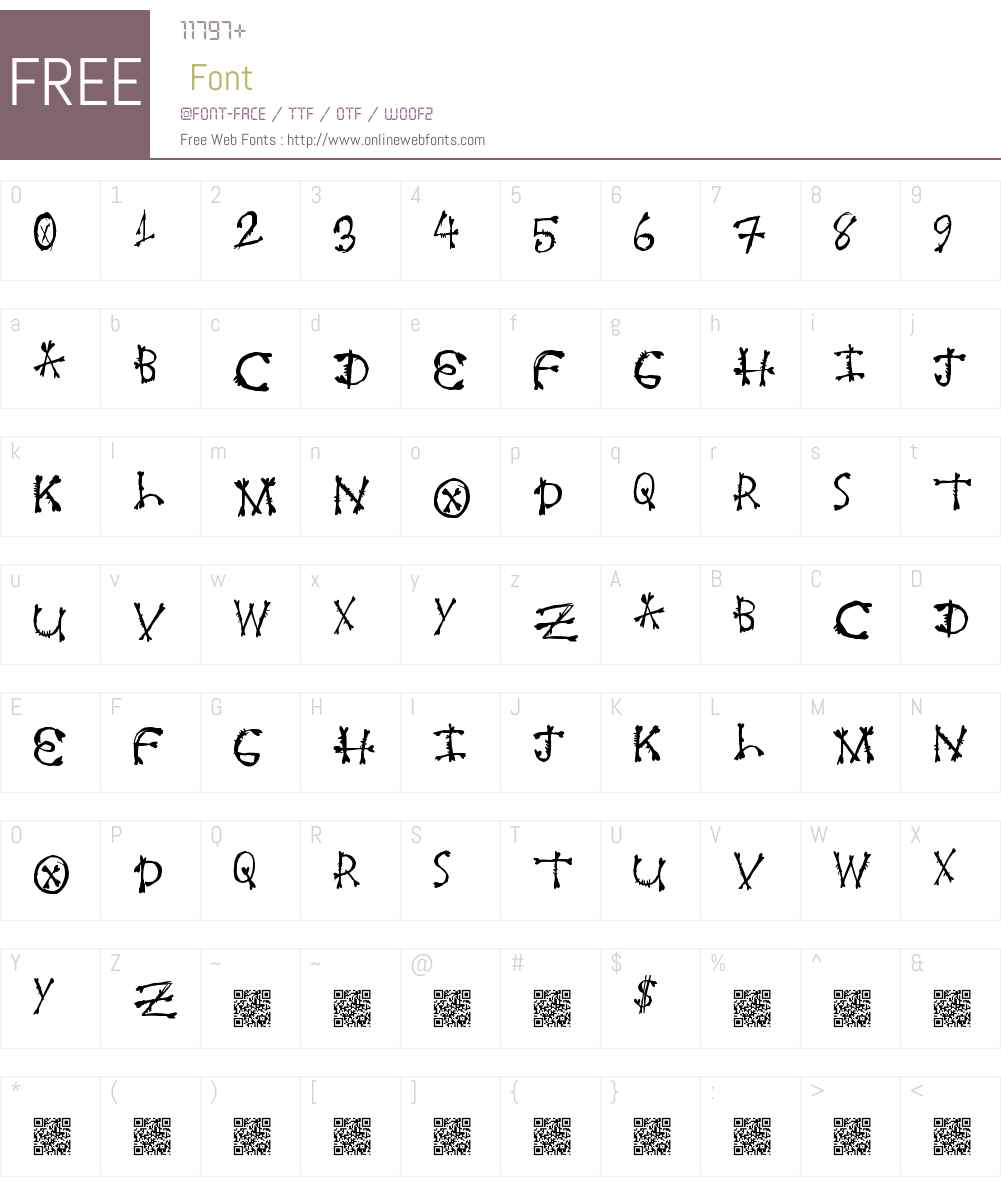 FreshBone Font Screenshots
