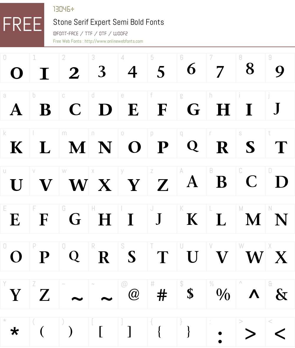 Stone Serif Expert BQ Font Screenshots