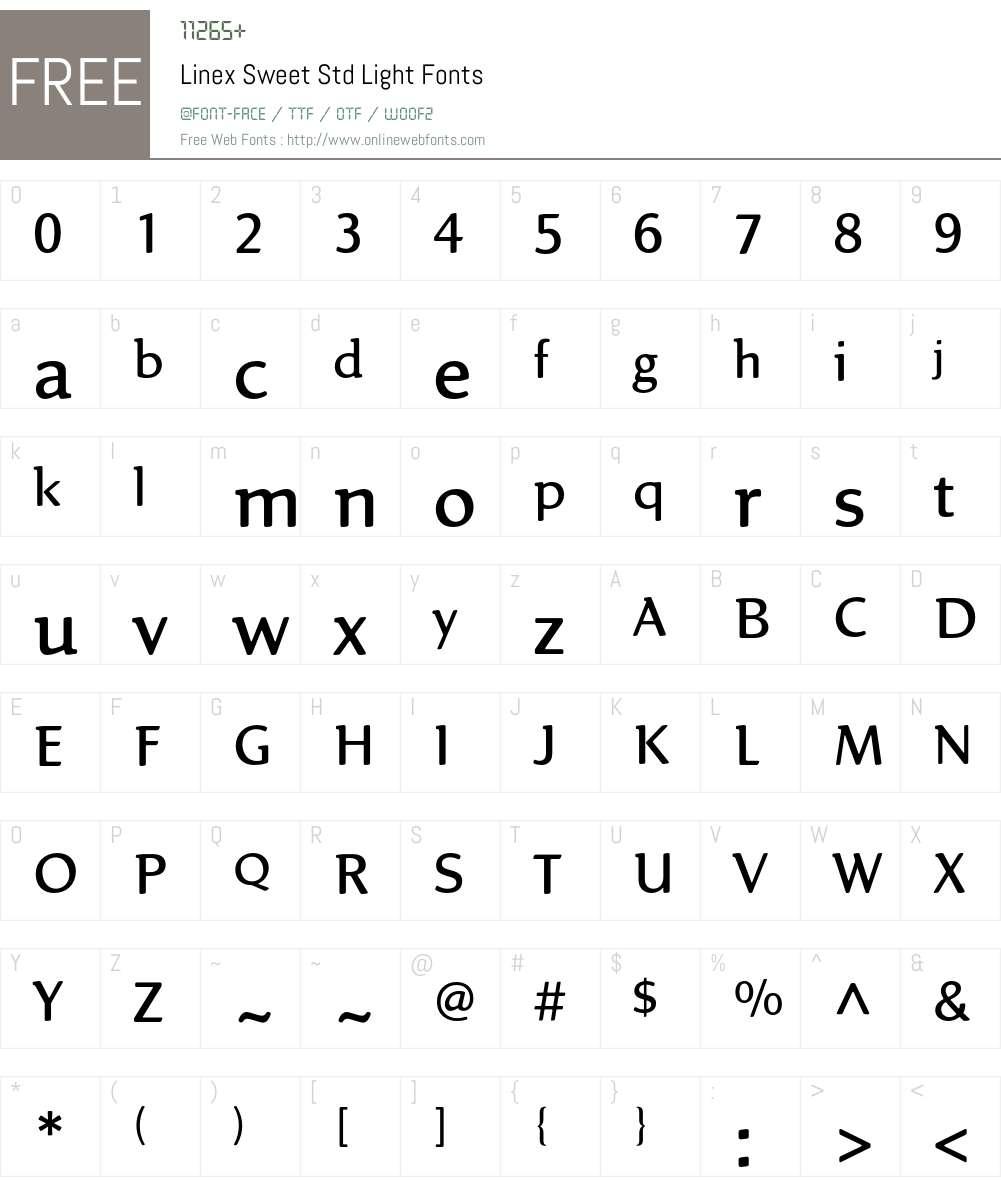 Linex Sweet Std Font Screenshots