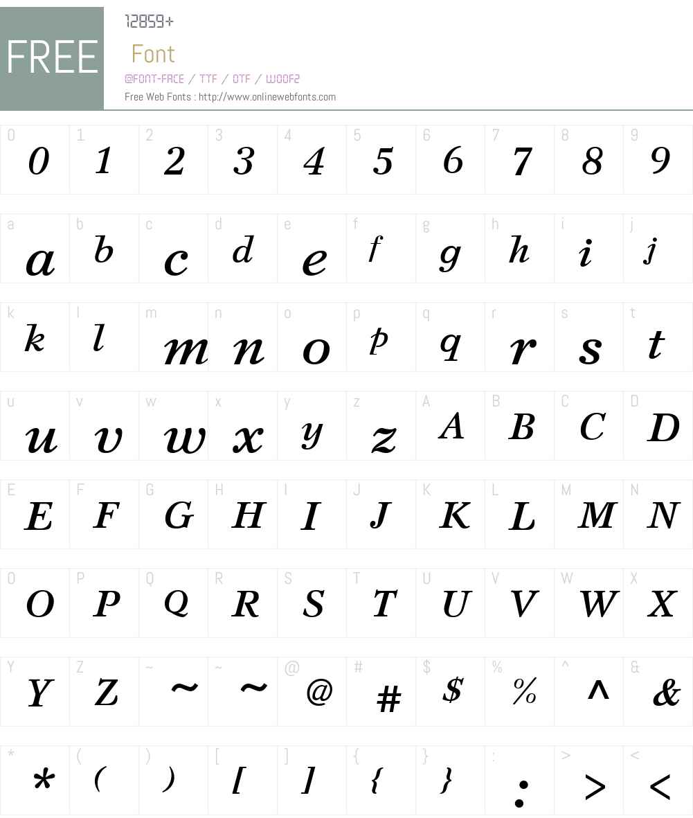 SvetlanaW01-BoldItalic Font Screenshots