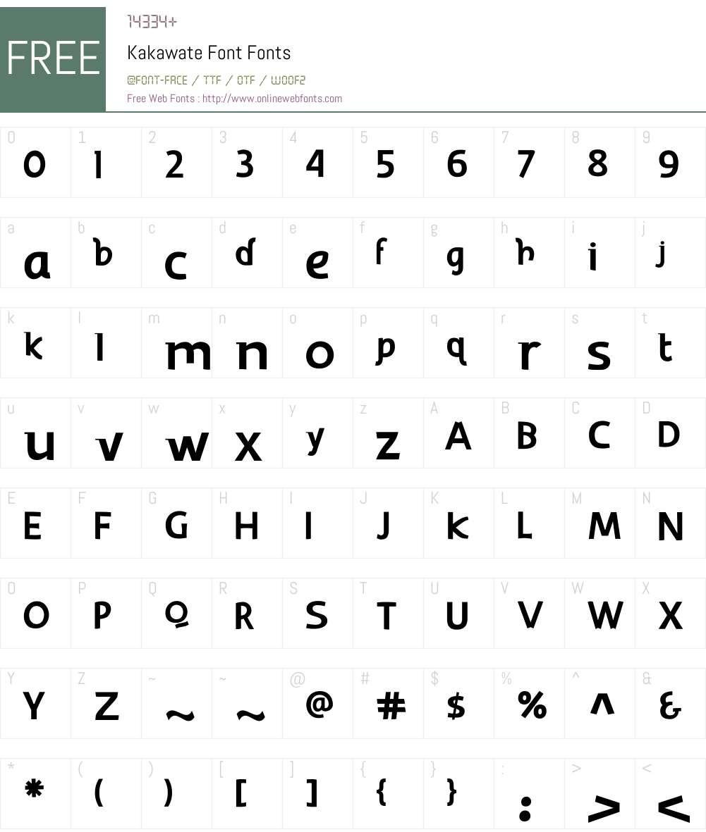 Kakawate Font Font Screenshots