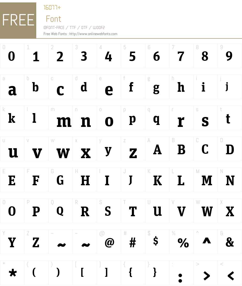 UnitSlabWebPro-BoldW01-Rg Font Screenshots