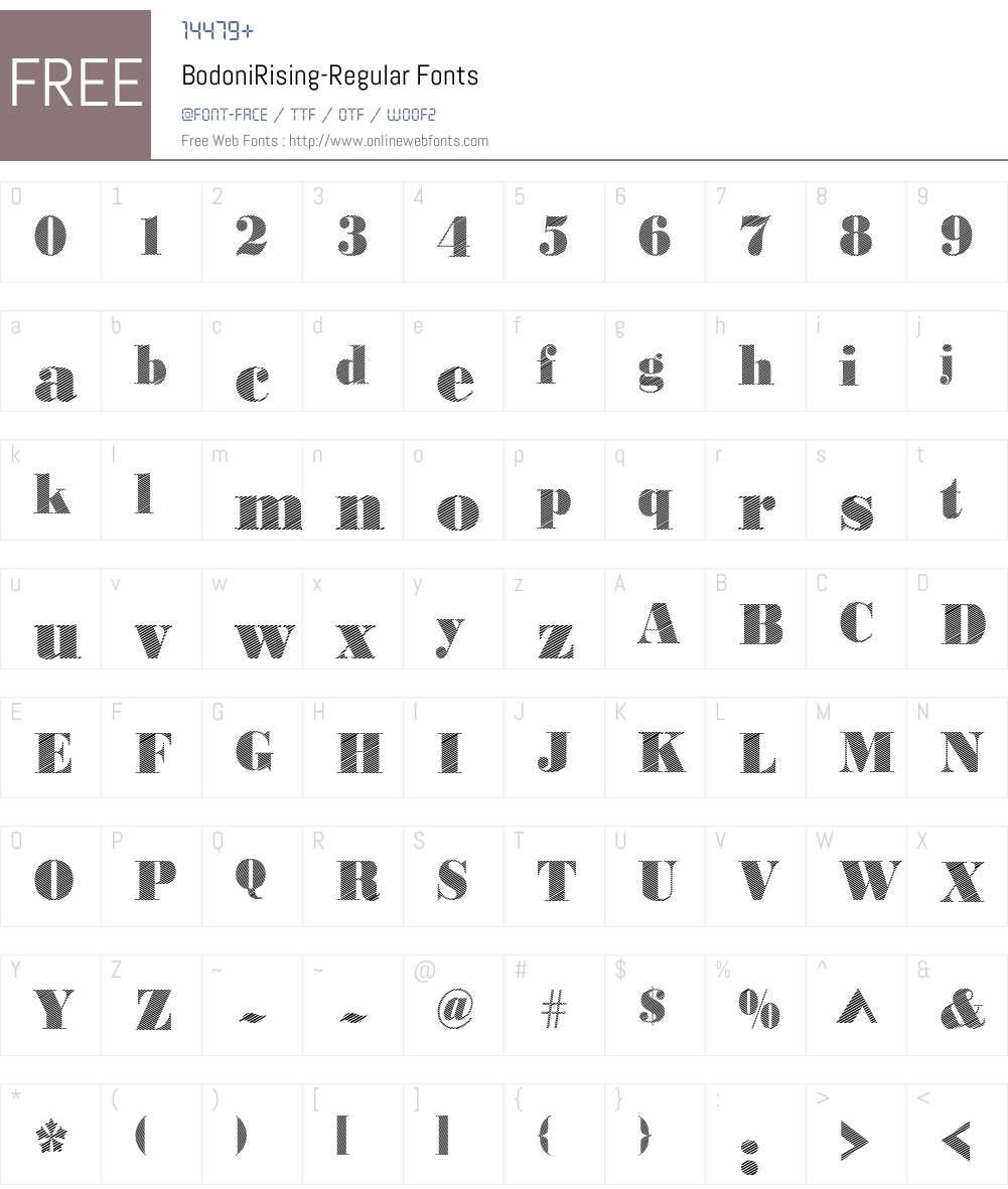BodoniRising Font Screenshots