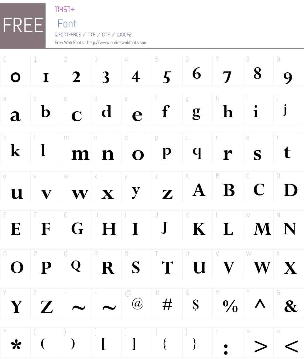 Perpetua Font Screenshots