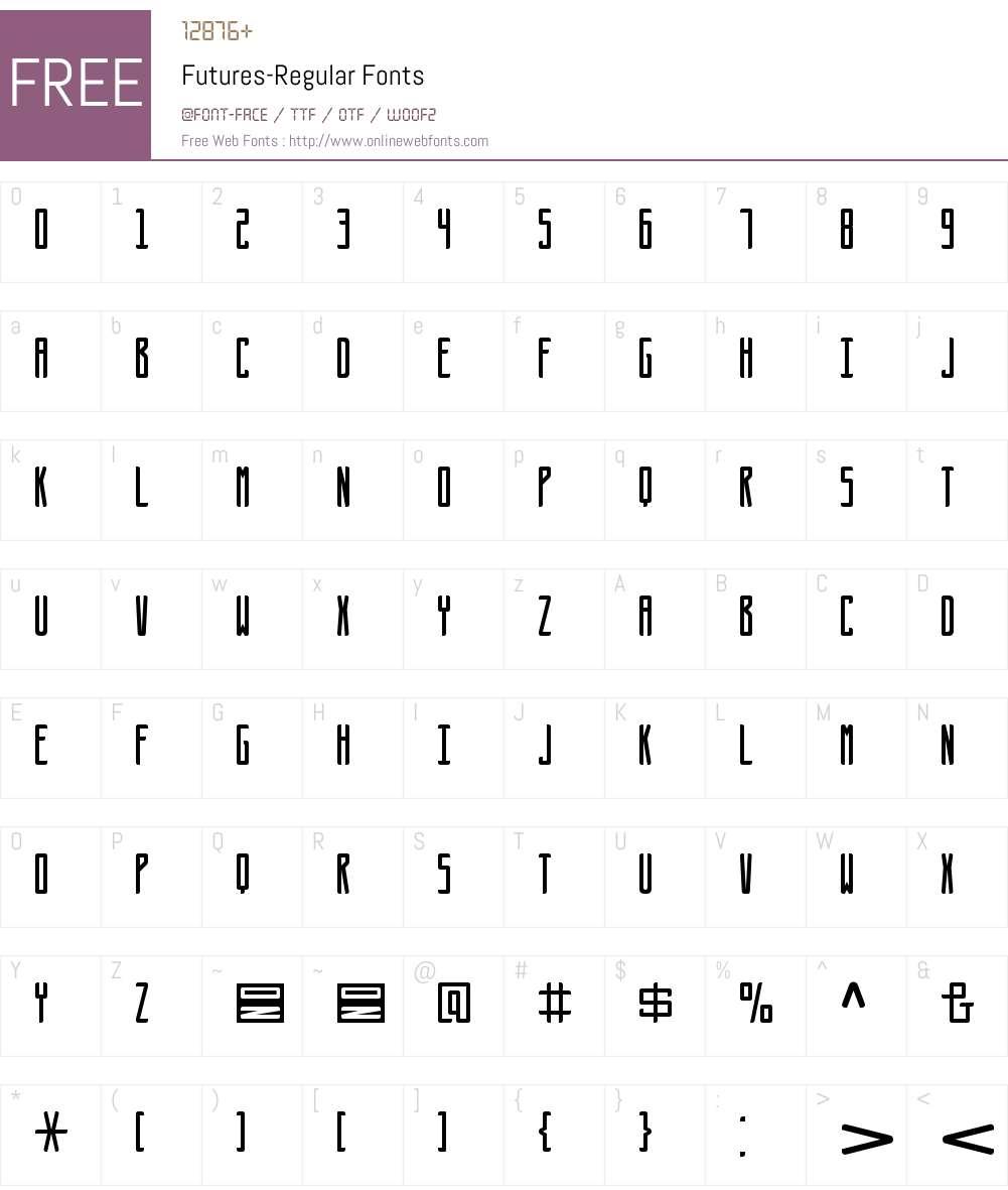 Futures Font Screenshots