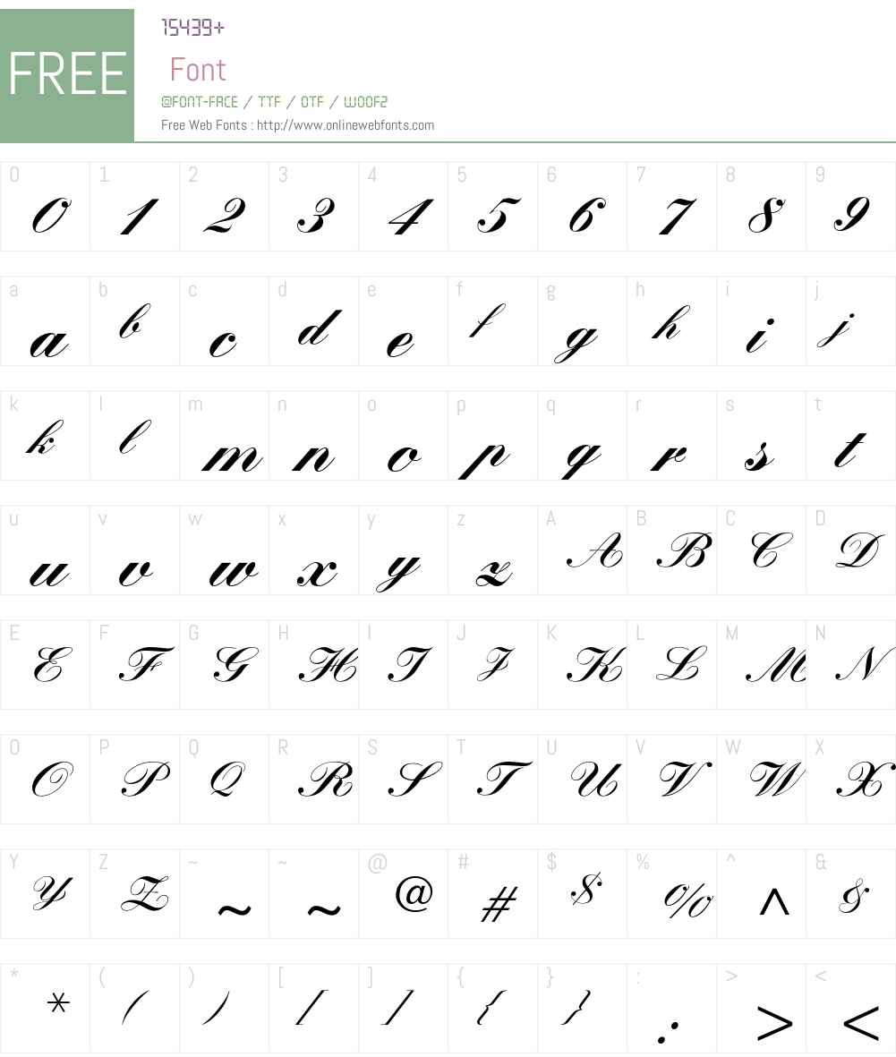 KuenstlerScript-Black Font Screenshots