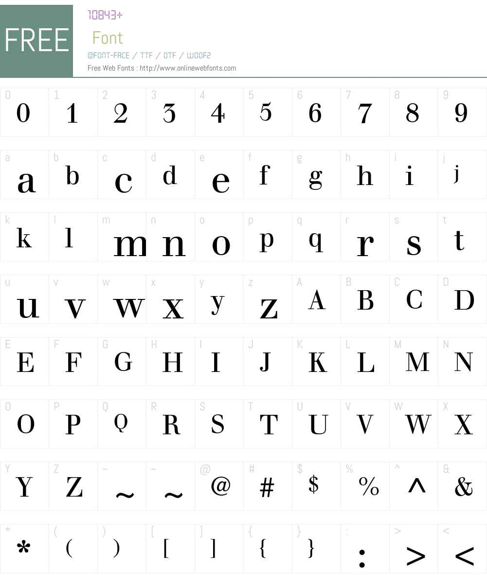 Walbaum Font Screenshots