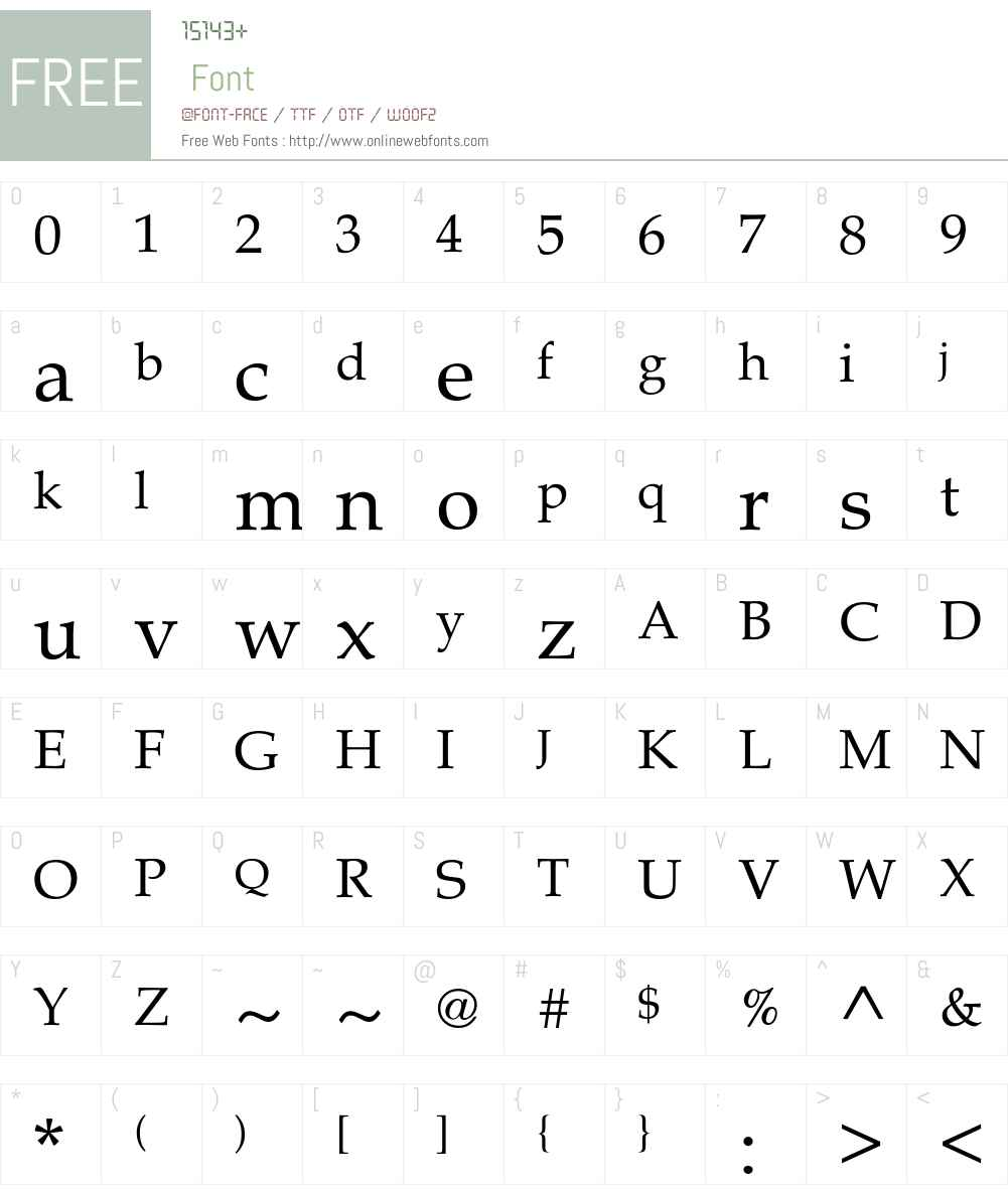 Melrare Font Screenshots