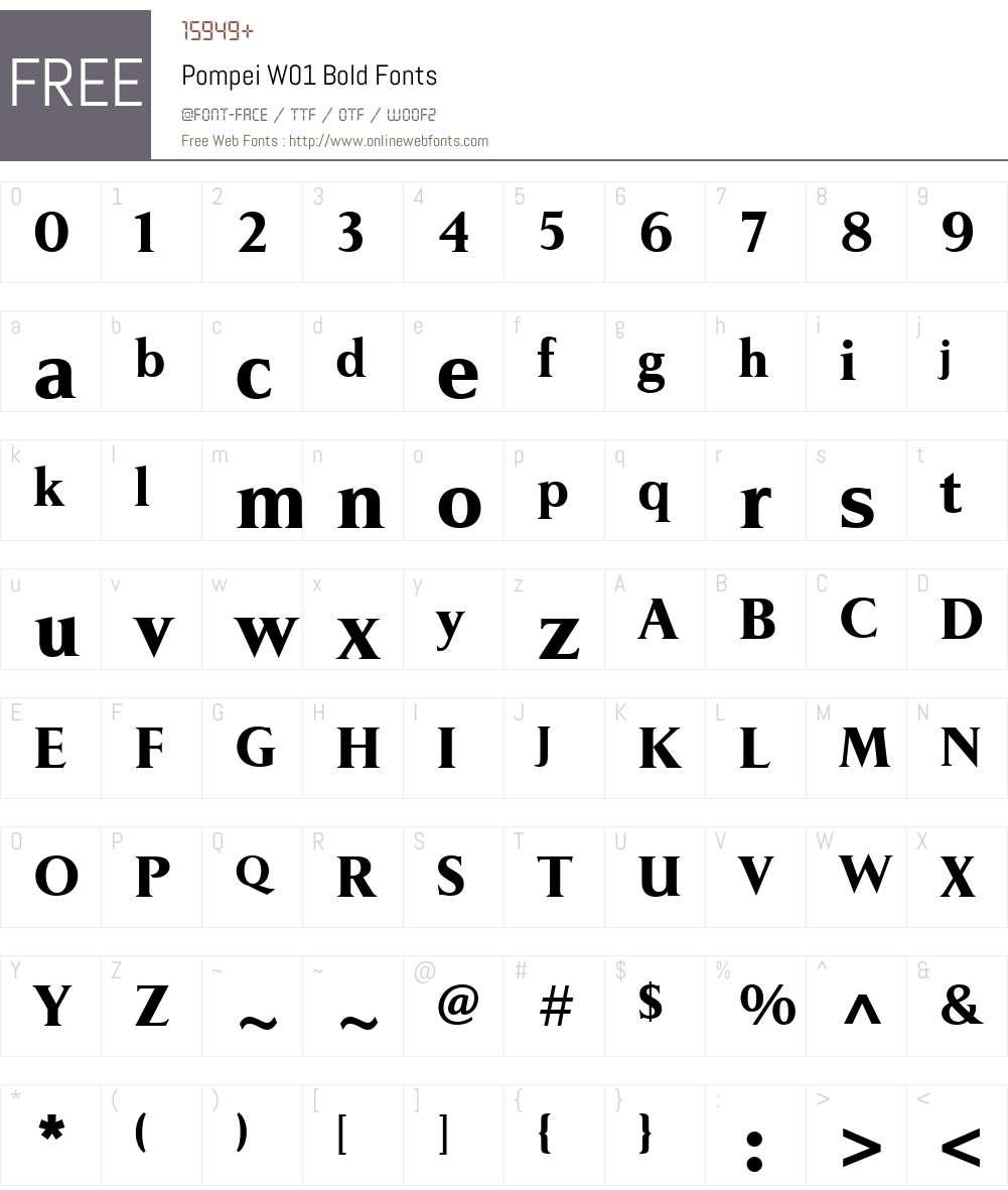 PompeiW01-Bold Font Screenshots