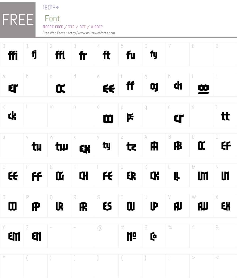 BlackletterSnsW90-OneLigBd Font Screenshots