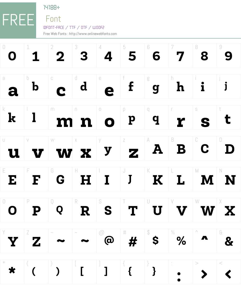 RobleW01-ExtraBold Font Screenshots