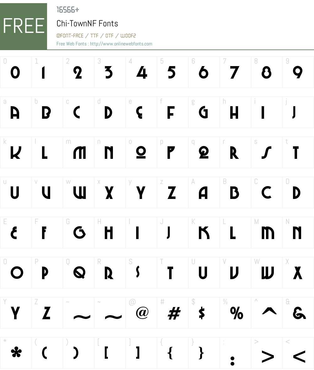 ChiTown NF Font Screenshots