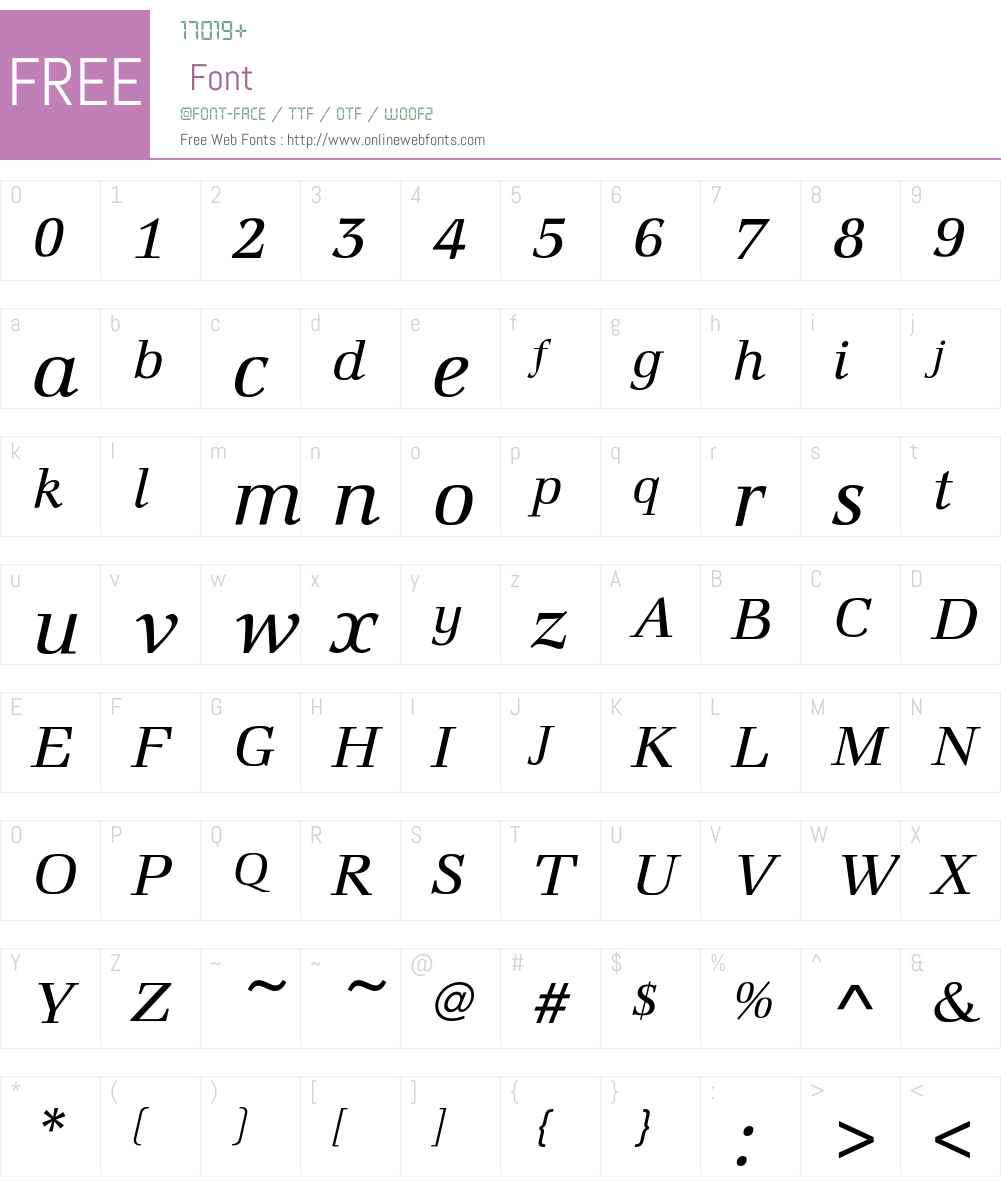 MarconiEF-BookItalic Font Screenshots