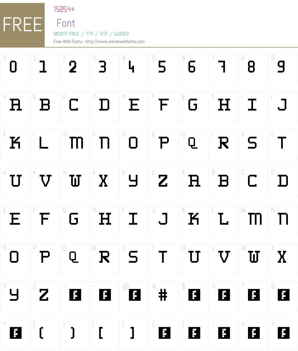 WLM 1F Block Serif Font Screenshots