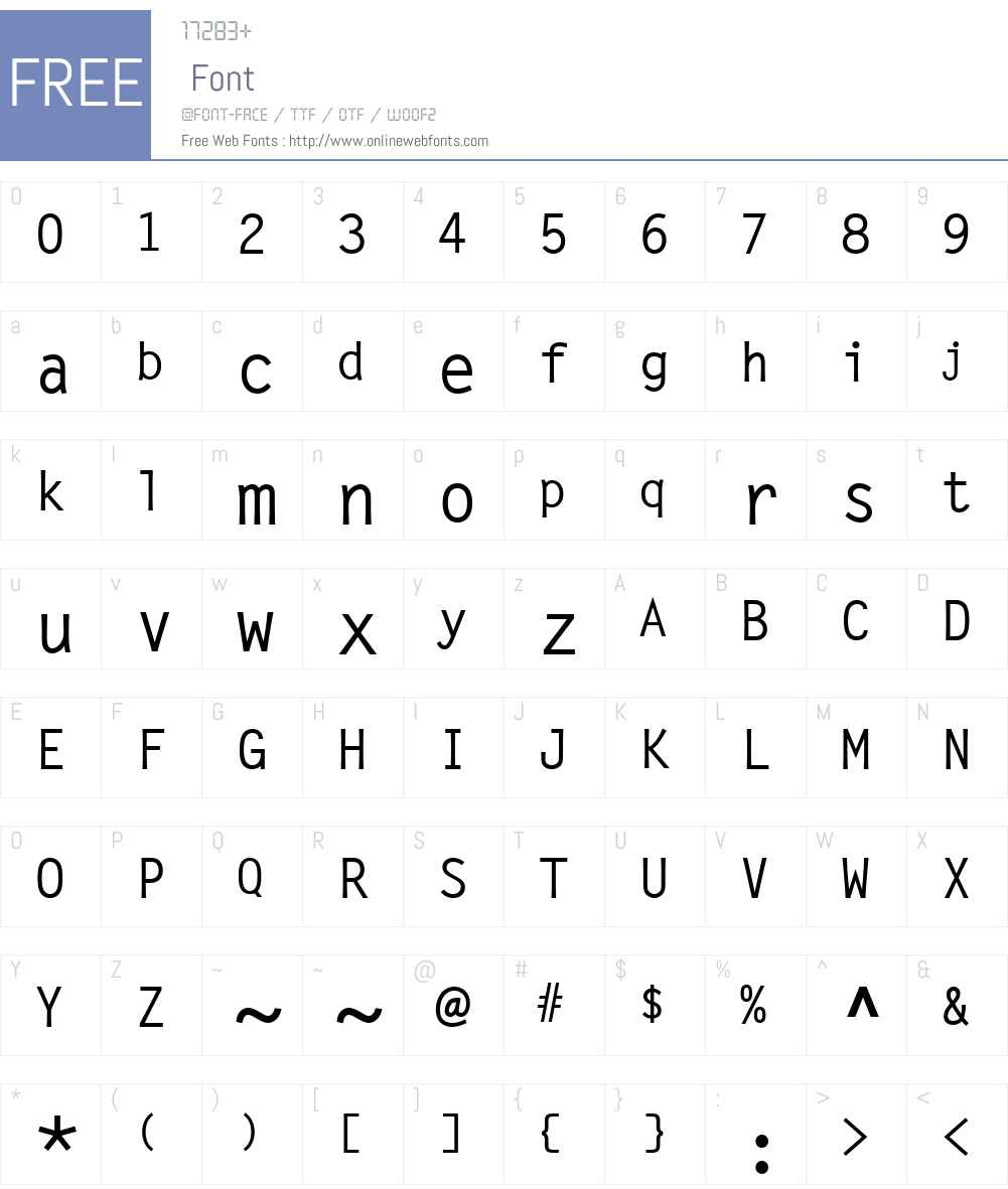 LetterGotLMed Font Screenshots