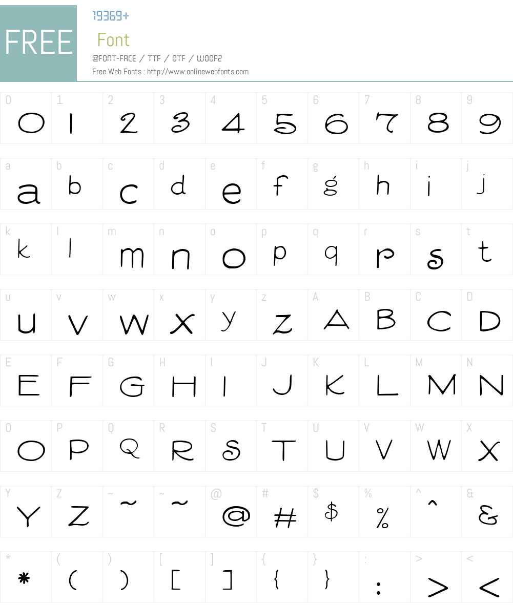 VitrinesW00-Regular Font Screenshots