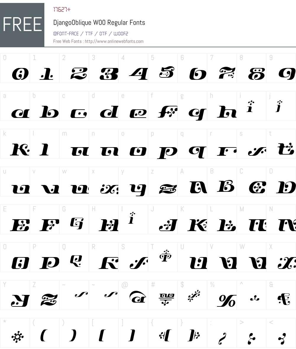 Django Font Screenshots