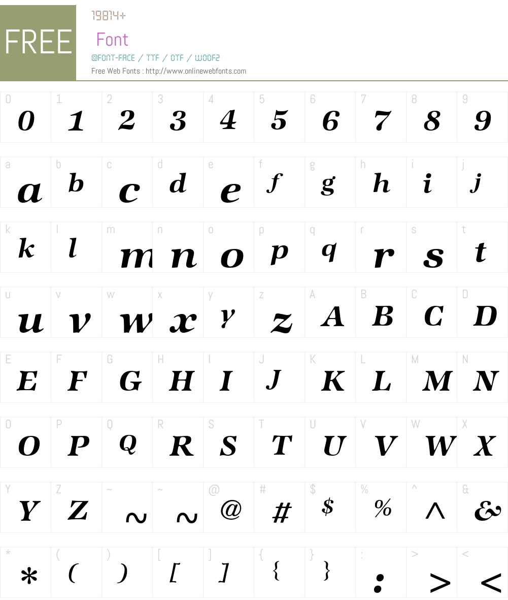 ATZapfInternational Font Screenshots