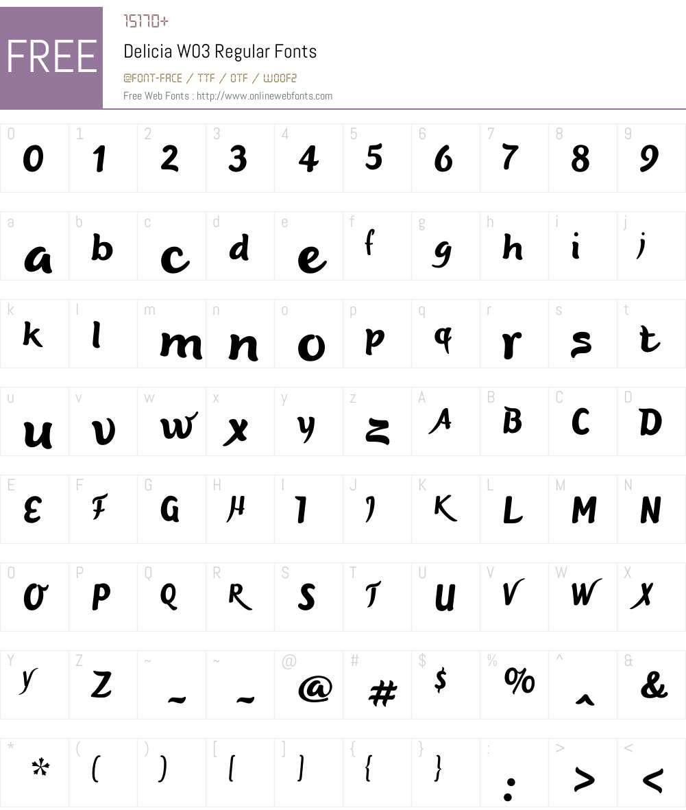 Delicia Font Screenshots
