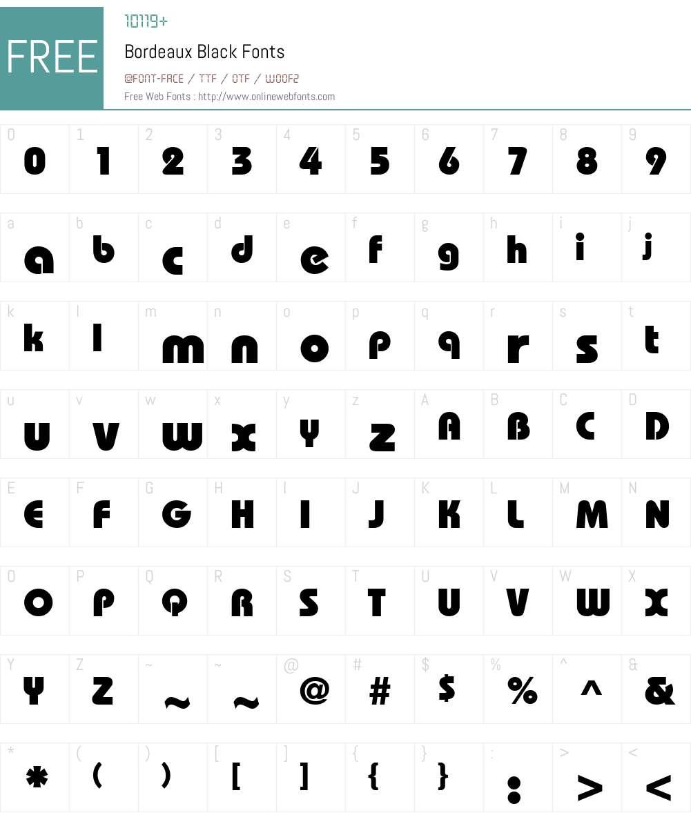 Bordeaux Black Font Screenshots