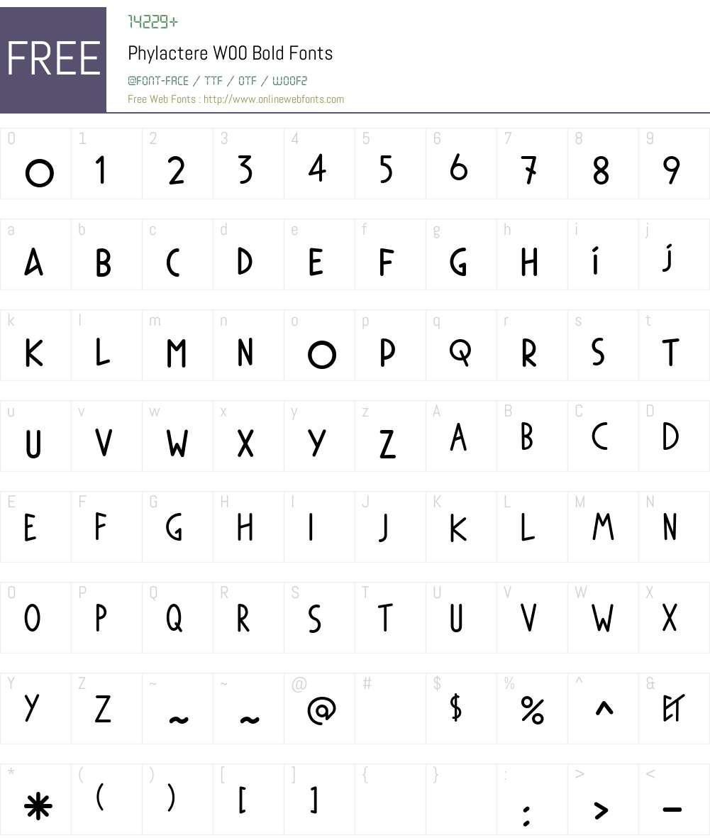PhylactereW00-Bold Font Screenshots