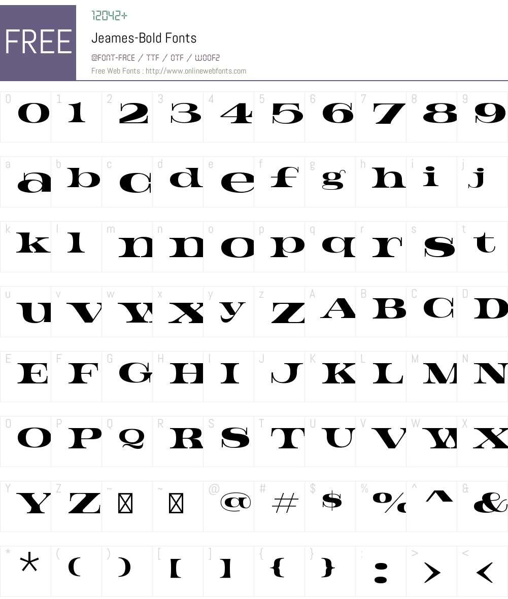 Jeames Font Screenshots