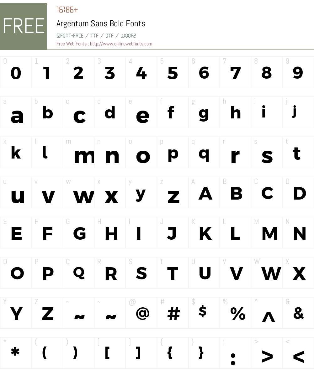 Argentum Sans Font Screenshots
