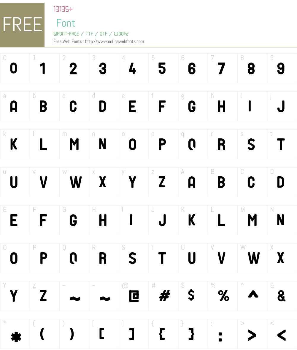 PTF NORDIC Font Screenshots