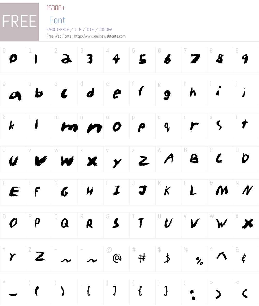KidTYPEPaint Font Screenshots