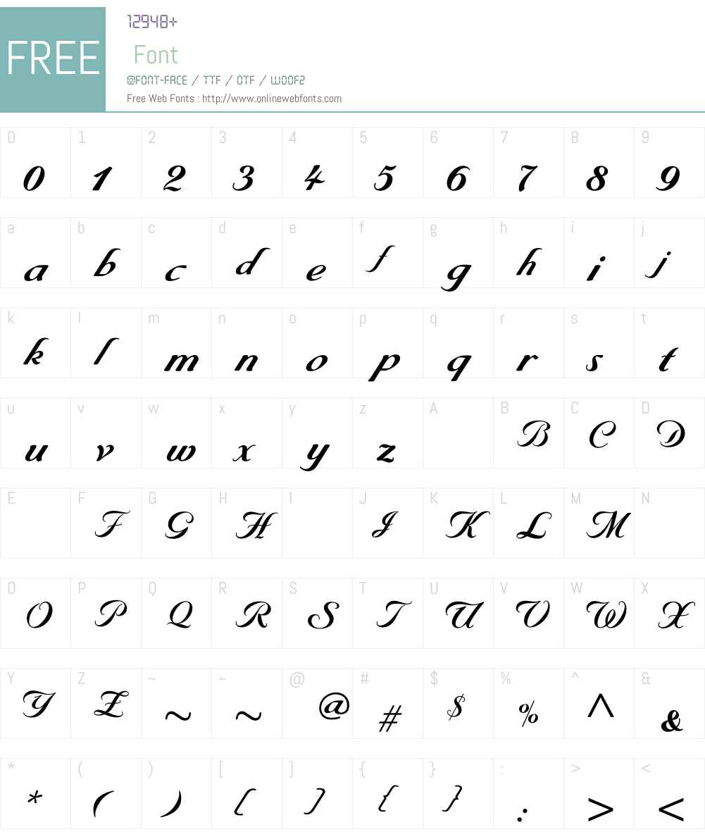 ByronBold Font Screenshots