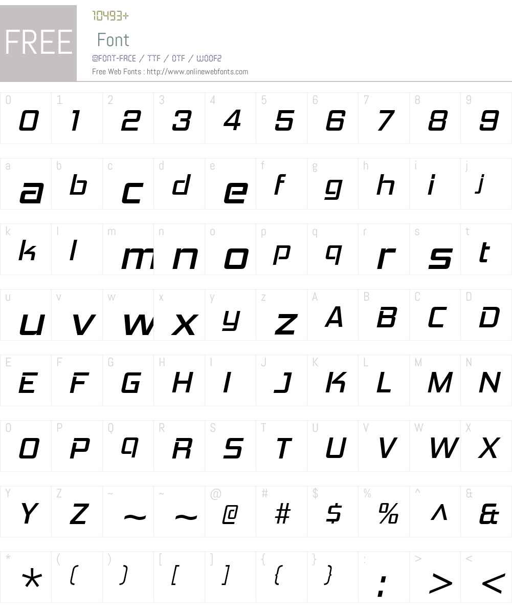 HemiHeadW00-RegularItalic Font Screenshots