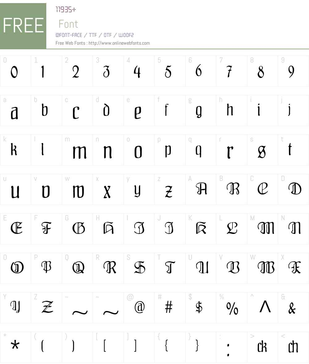 Fraenkisch Font Screenshots