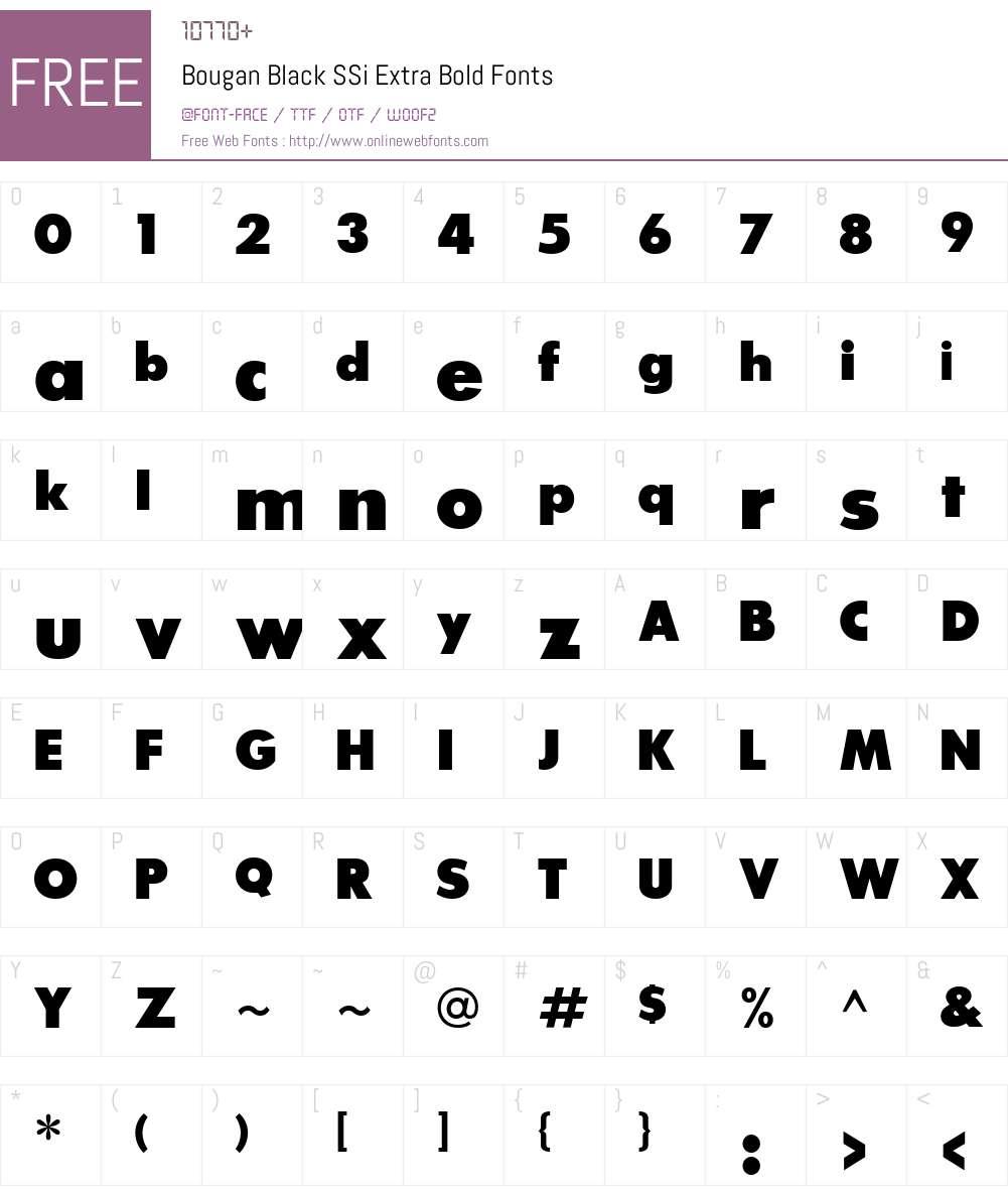 Bougan Black SSi Font Screenshots