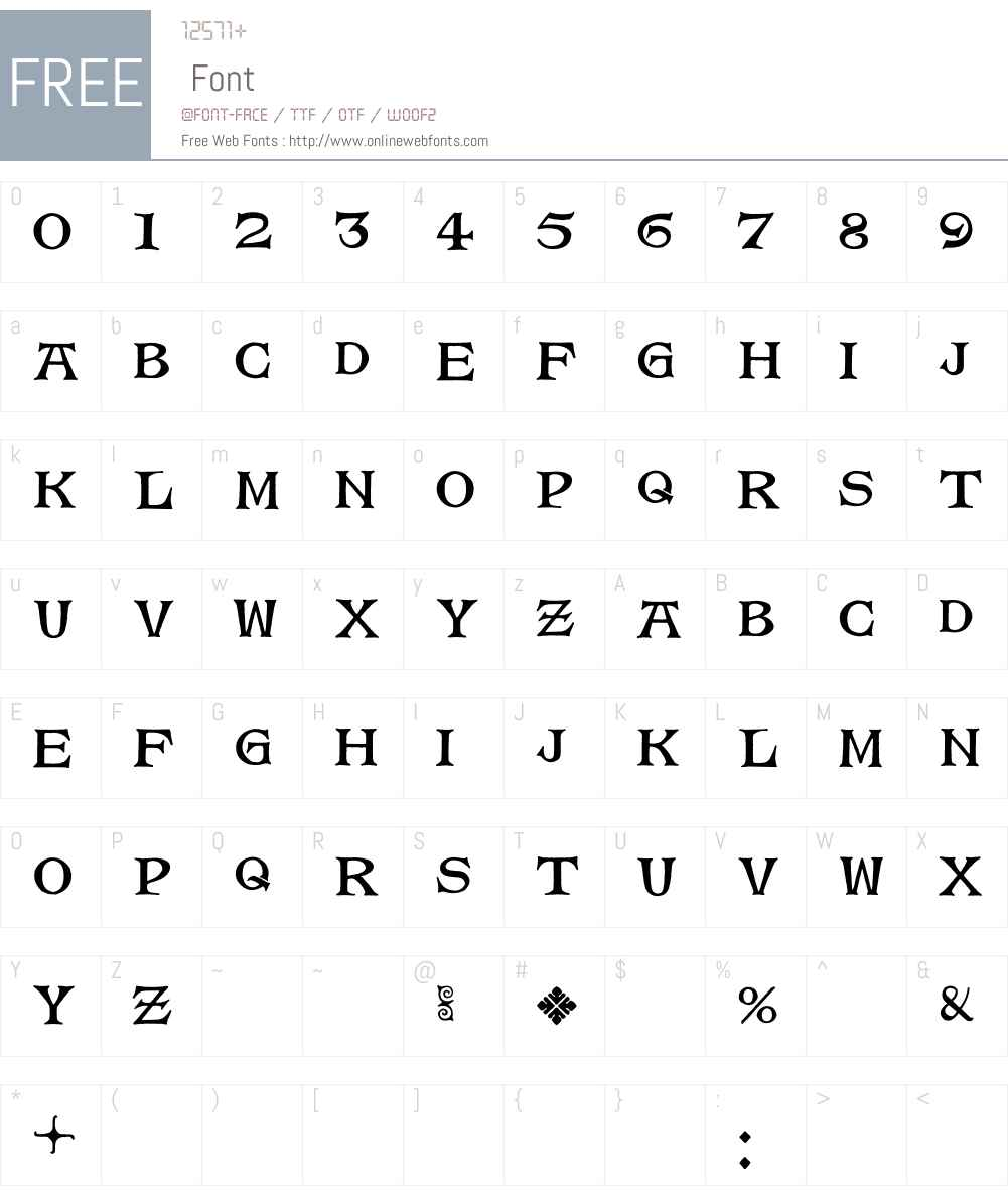 Magda Font Screenshots