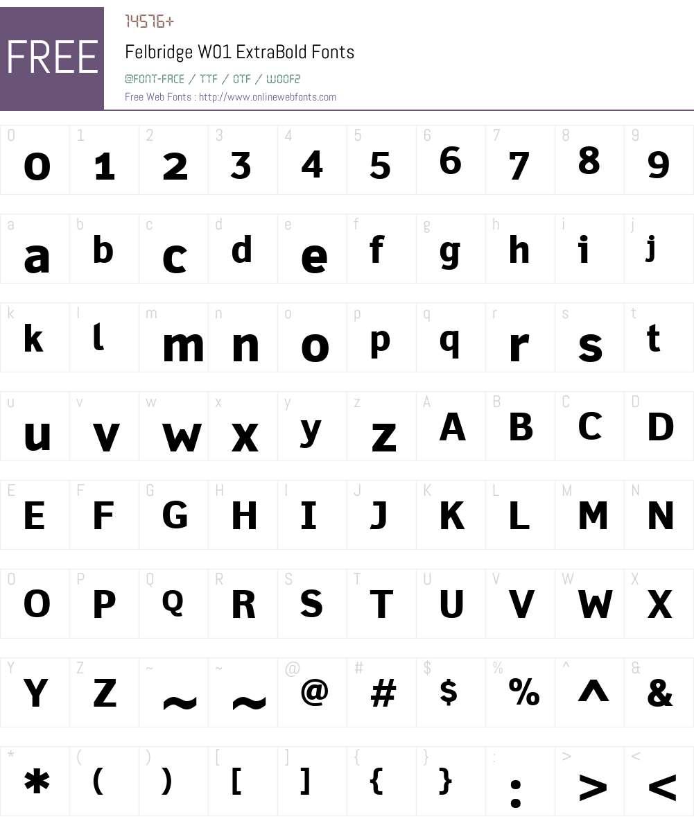 FelbridgeW01-ExtraBold Font Screenshots