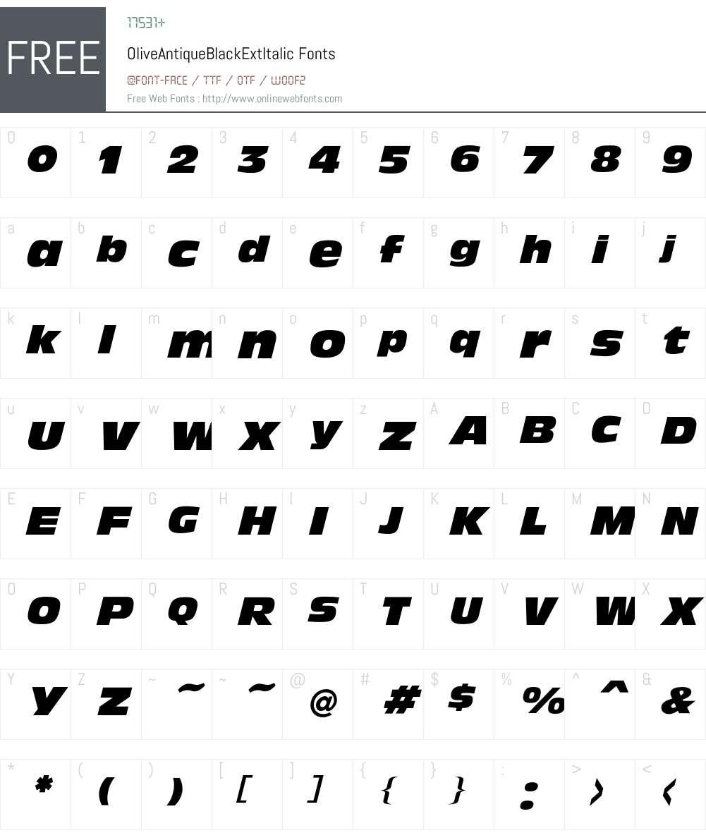 Olive Font Screenshots