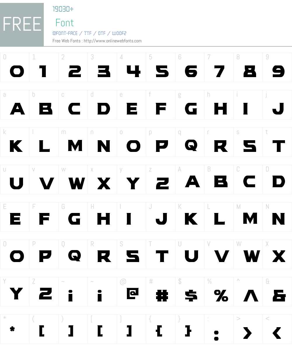 Modi Thorson Condensed Font Screenshots